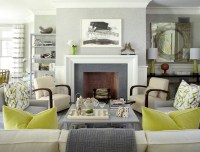 gray and green contemporary decor living room | just decorate!