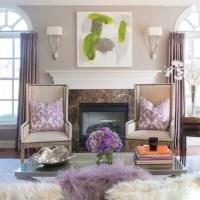 Glam mauve decor living room   just decorate!