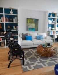 Make Basic Shelves look like Built-Ins!   just decorate!