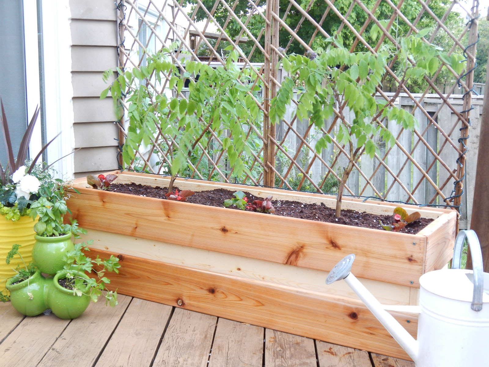Diy Deck Flower Boxes Planting For Privacy Diy Wood Planter Just Decorate