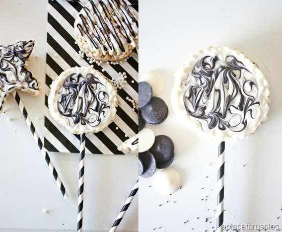 Black and White Rice Krispie Treats