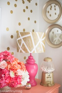 DIY Lampshades- Gold Geometric Shade | Just Destiny