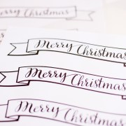 Black and White Christmas Banner