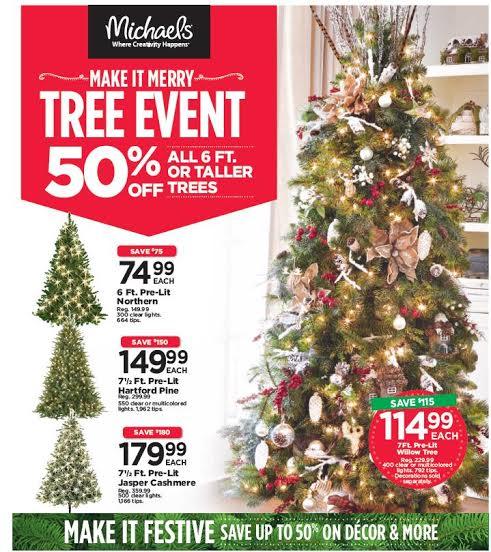 Michaels Christmas Tree Sale