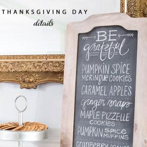 Thanksgiving Day Chalkboard art With World Market