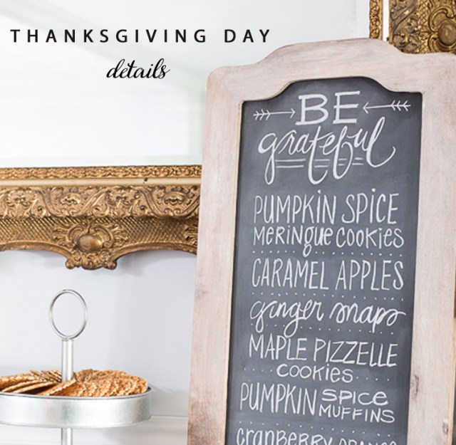 Thanksgiving Day Chalkboard art With World Market