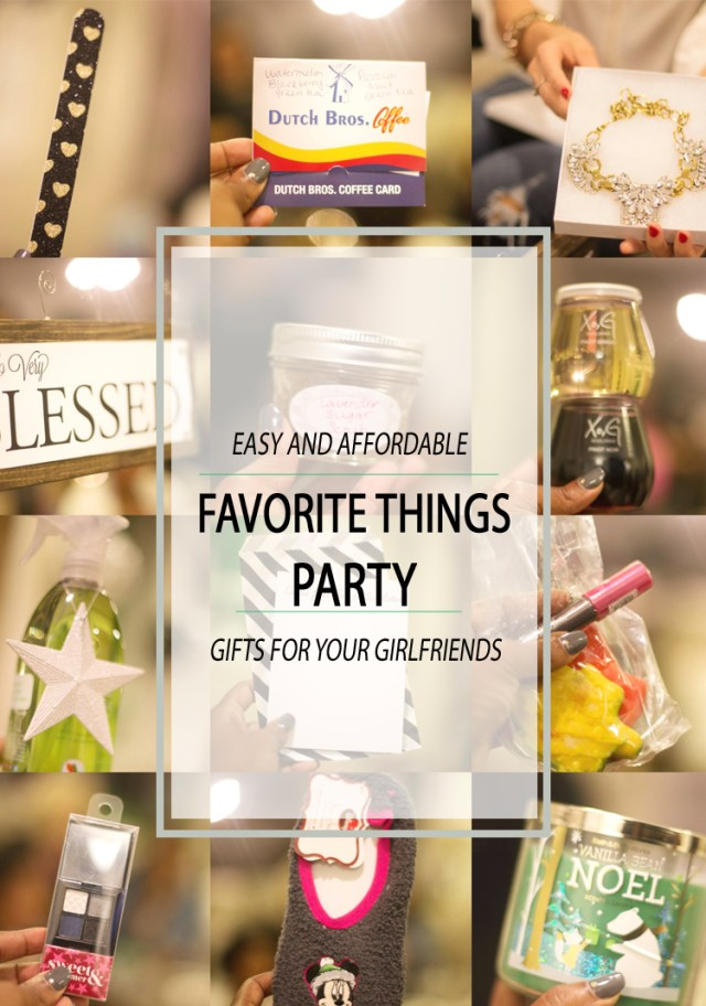 Affordable Favorite Things Party