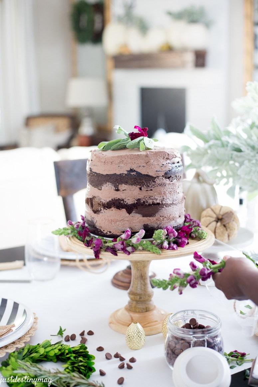 Chocolate Naked Cake - Autumn Wedding_-11
