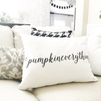 Custom #pumpkineverything Pillow from Shutterfly