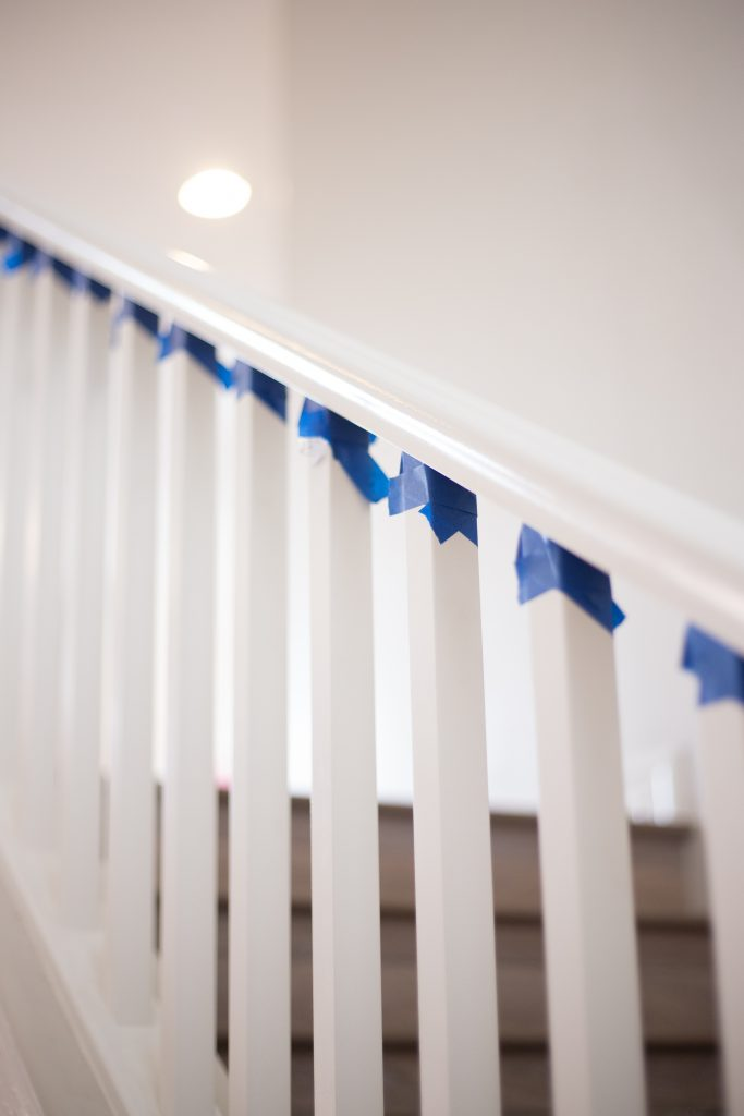 Maskin Tape The Best Way To Paint Your Stair Rails Black | Just Destiny