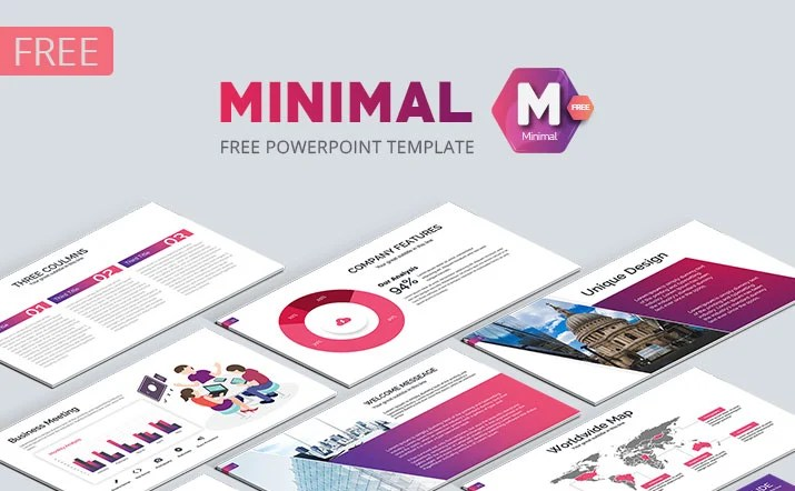 Minimal Free business PowerPoint Template - Powerpoint Templates