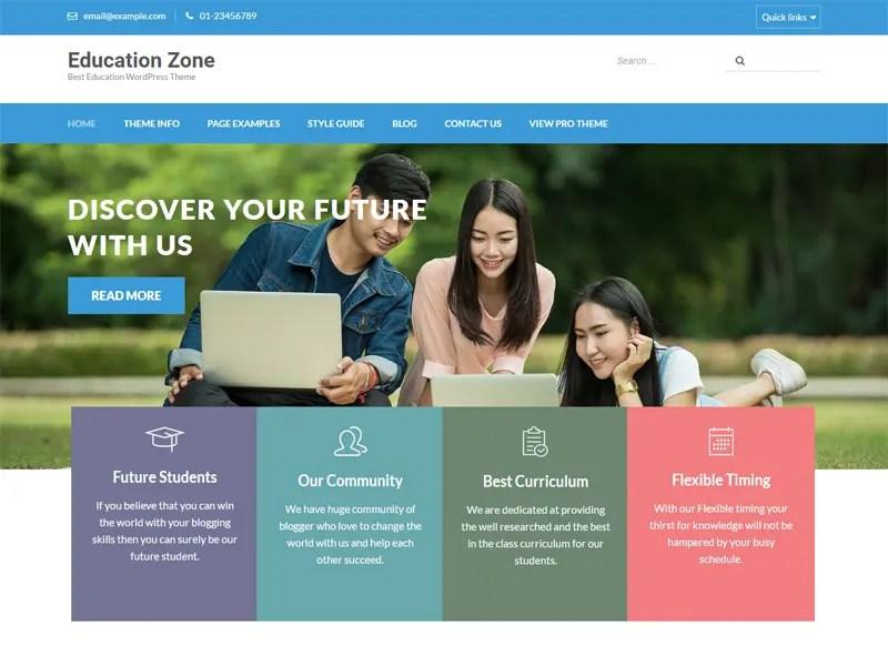 Download Free Education Zone Wordpress theme - JustFreeWPThemes