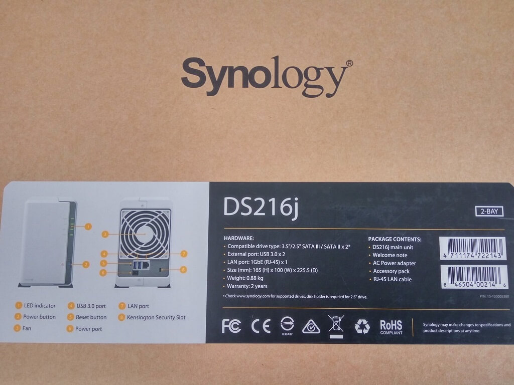 Camera Exterieur Synology Test Du Nas Synology Ds216j