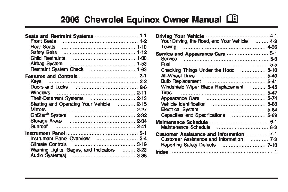 chevrolet 2006 cobalt owners manual