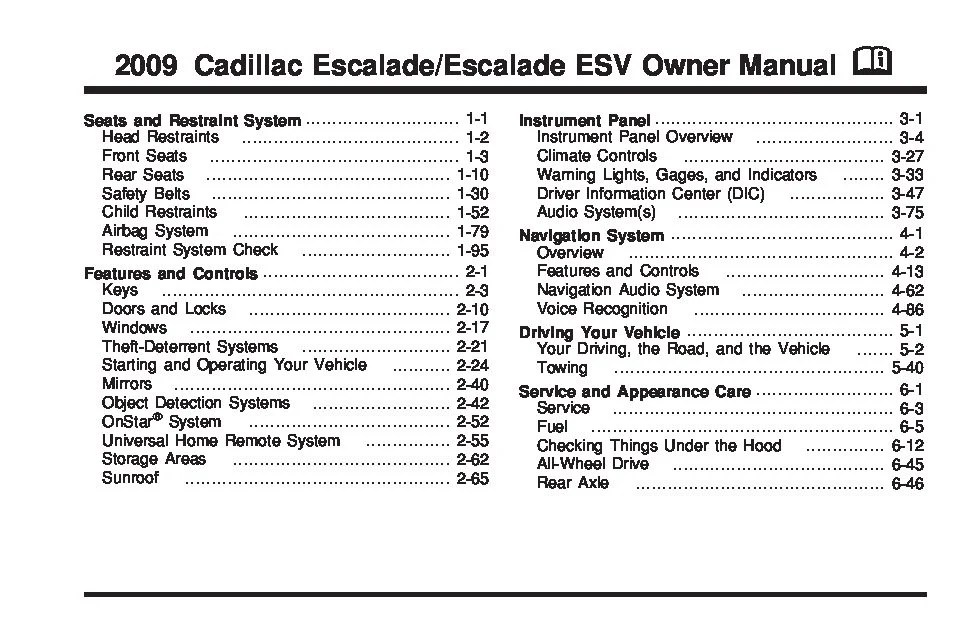 Cadillac Escalade 2009 Fuse Box - Wiring Diagrams Schema