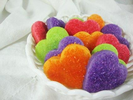 Jell-O Cookies - Valentine Hearts In Dish