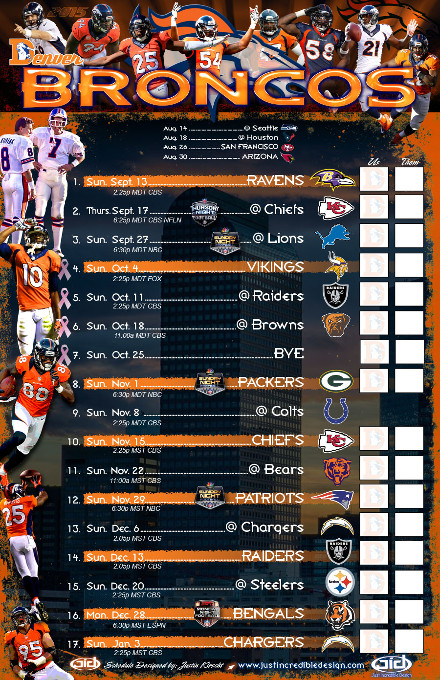 Nfl Schedule Nfl Schedule Archives Just Incredible Design