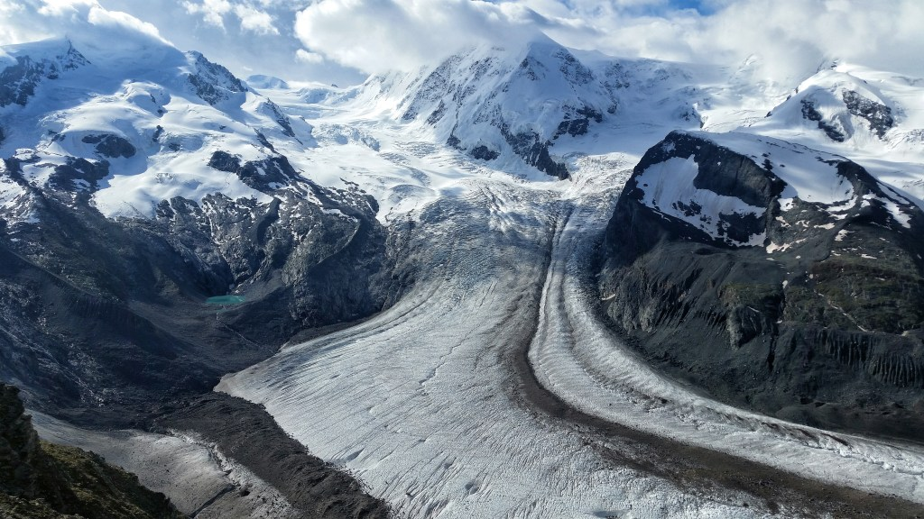 Glacial ice in switzerland