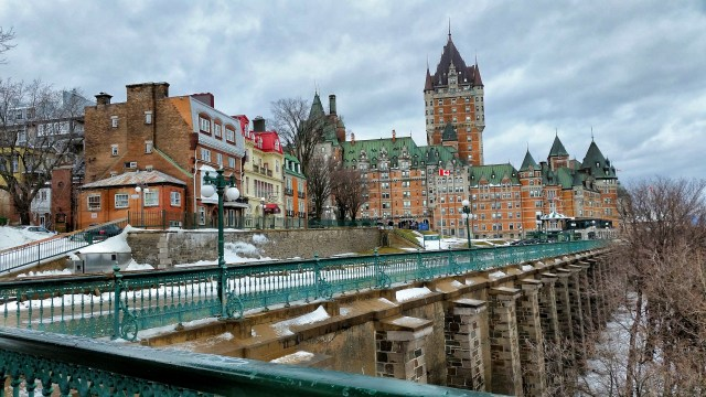 Chateau Frontenac on the St. Lawrence River.