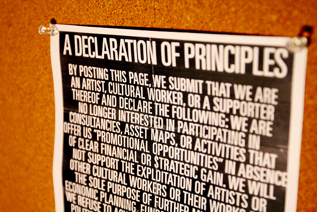 A Declaration of Principles