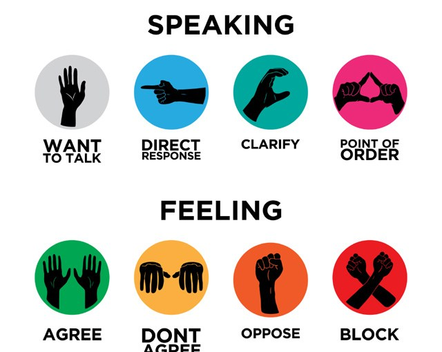 Occupy Hand Signals | Occupy Design