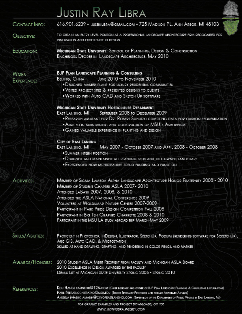Resume Generator Student Interactive Readwritethink Resume Justin Libra Design Landscape Architecture And