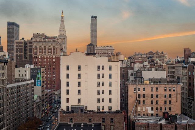 New York City Sunset from the Chelsea Hotel