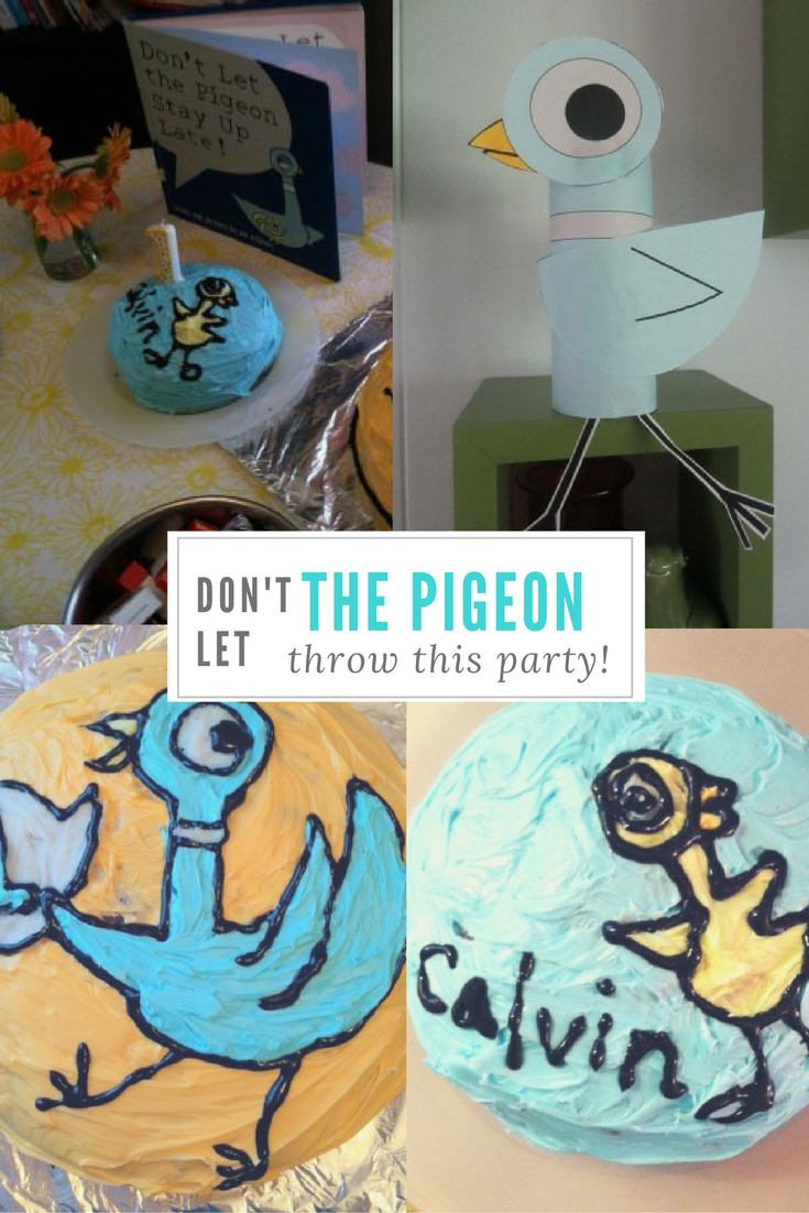 Throw a birthday party fit for The Pigeon! Fans of Mo Willems will love this fun diy pigeon party!