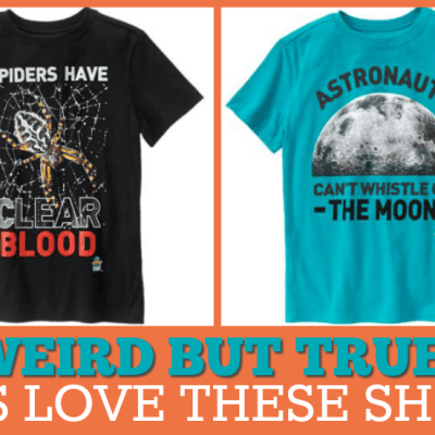 Weird but true shirts for kids