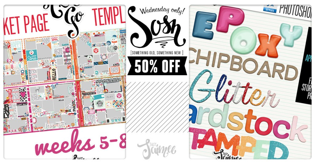 50% off Ready-To-Go Pocket Page Templates today only!