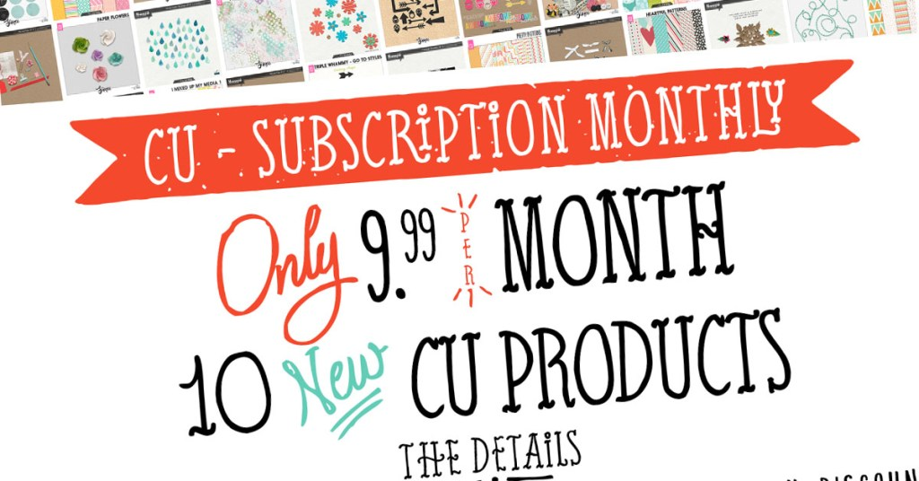 CU Commercial Use Subscription Monthly is here!