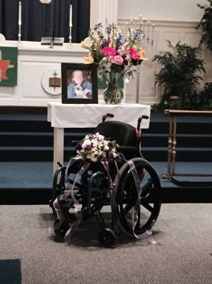 AmandaMemorialEmptyWheelchair