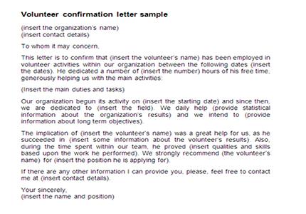 Volunteering Certificate Template - mandegarinfo
