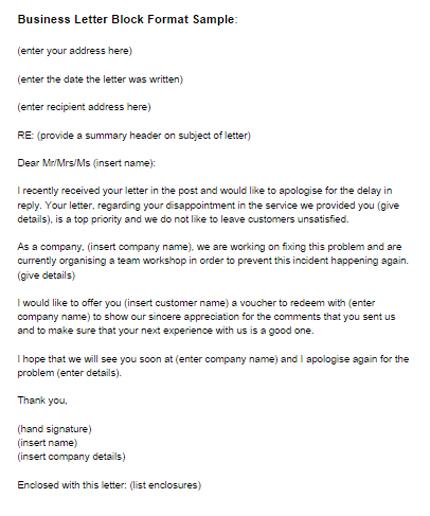 Business Letter Block Format Sample Just Letter Templates - sample professional business letter