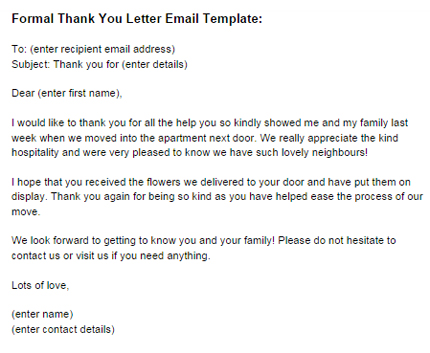 Formal Thank You Letter Email Template Just Letter Templates - thank you for your business email