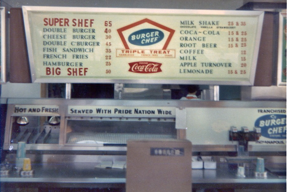Burger Chef on Sullivant Ave I lived close enough to walk It was - coffee menu