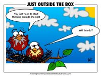 think outside the box Archives - Just Outside the Box Cartoon