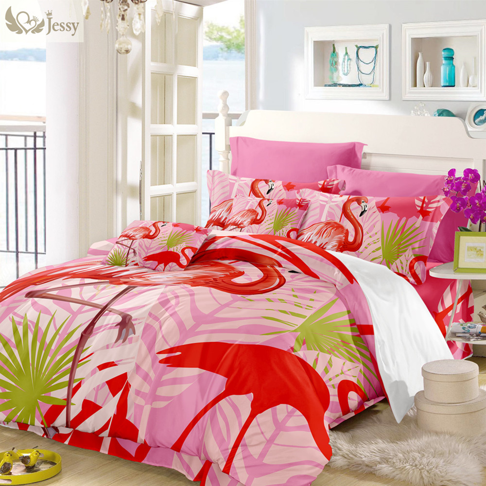 Pink Duvet Cover Pink Flamingo Pattern Duvet Cover Bedding Set
