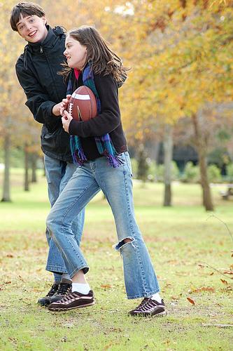 A Perk of Unemployment:  Spontaneous Football