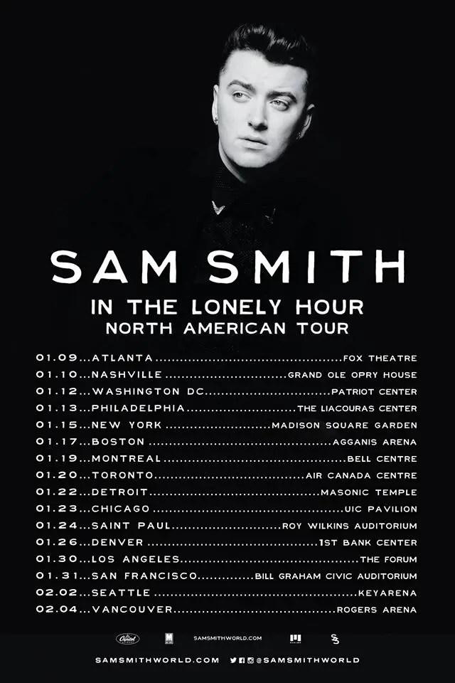 Sam Smith Dates Tour