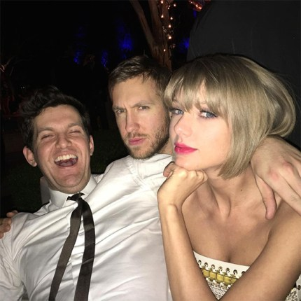 Calvin Harris and Taylor Swift at Grammy Awards 2016 Afterparty