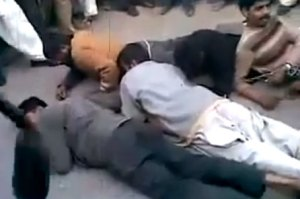 Punjab Police Beating Dacoits in Public