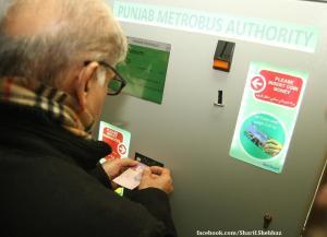 metro bus ticket system Lahore Pakistan