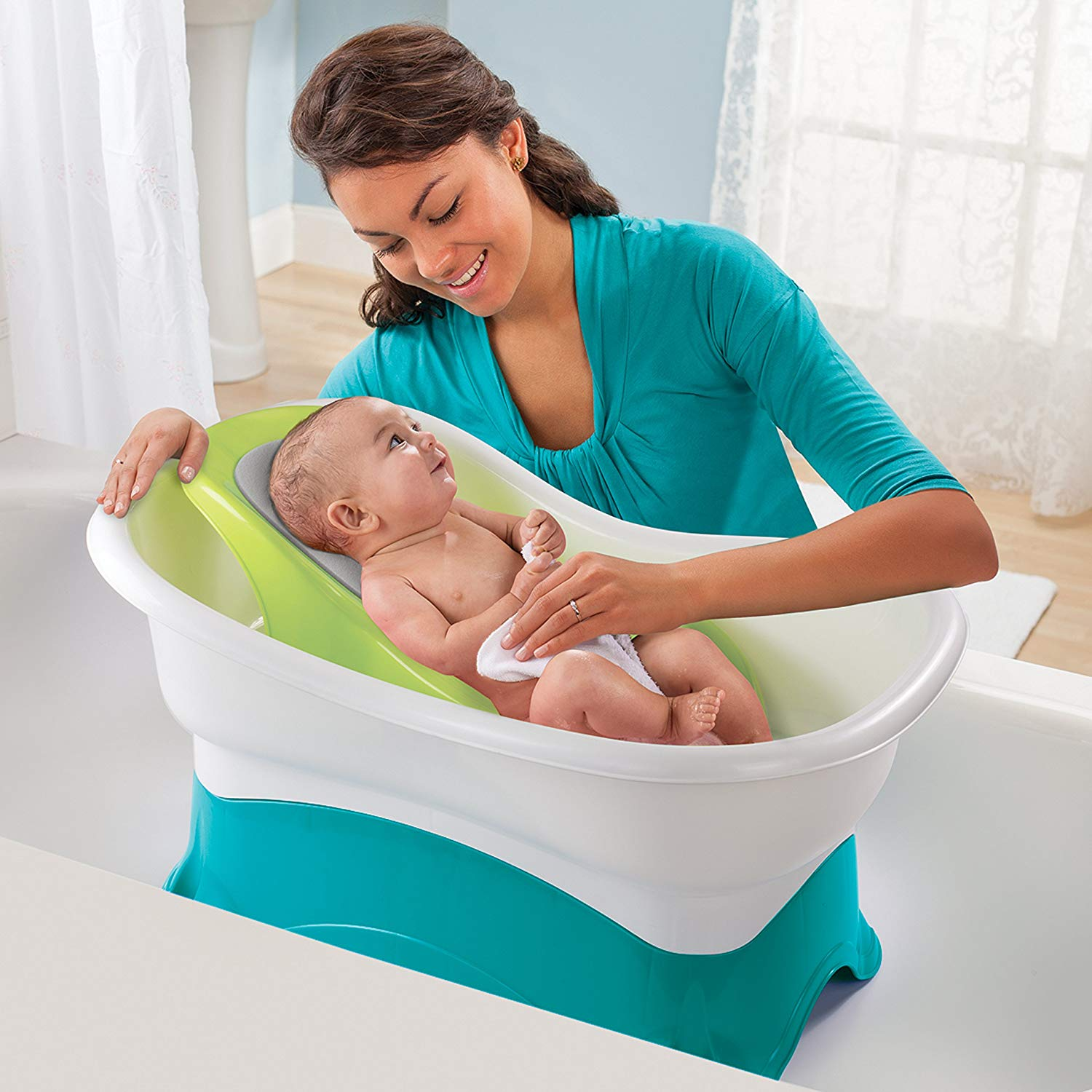 Newborn Infant Bath How To Organize Your Home For A New Baby Just Simply Mom