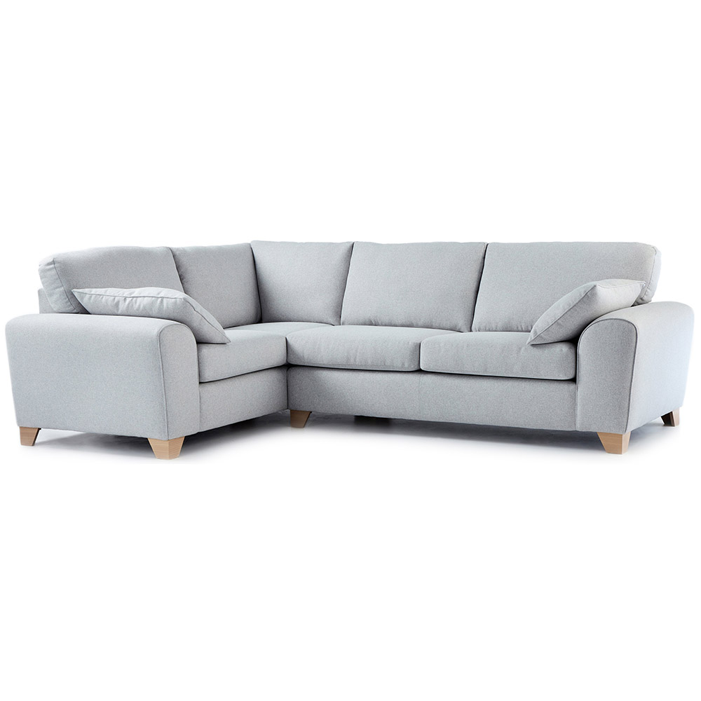 Ecksofa Grau Stoff Robyn Fabric Corner Sofa Left Hand In Light Grey | Just