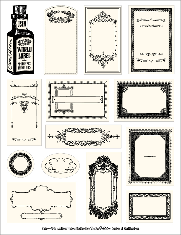 Free Apothecary-Style Labels WorldLabel Cathe Holden\u0027s