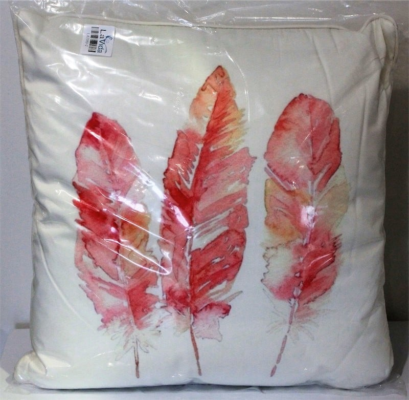 Ex Display Kitchen Islands Pink Feather Cushion - Just The Thing Furniture