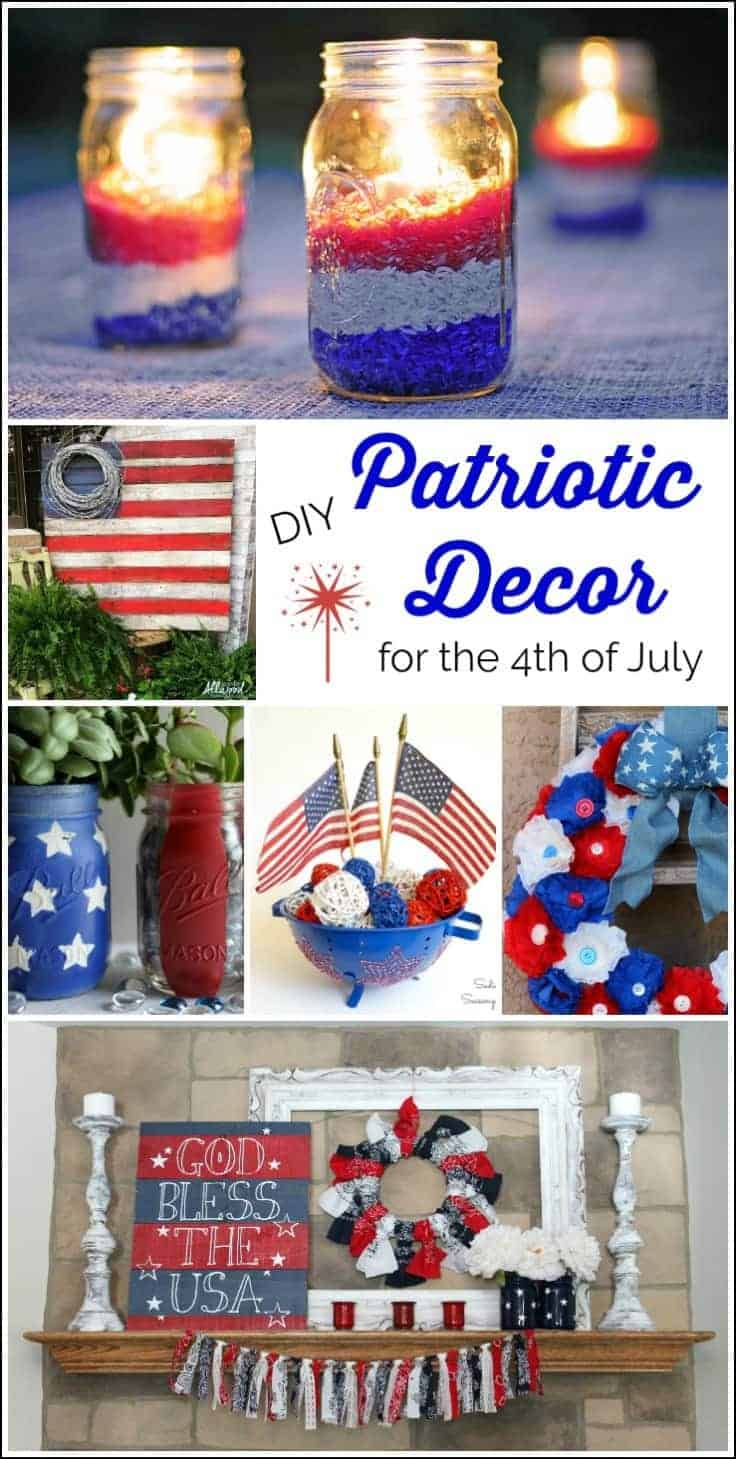 Easy Red White Blue Diy Patriotic Decor For The 4th Of July