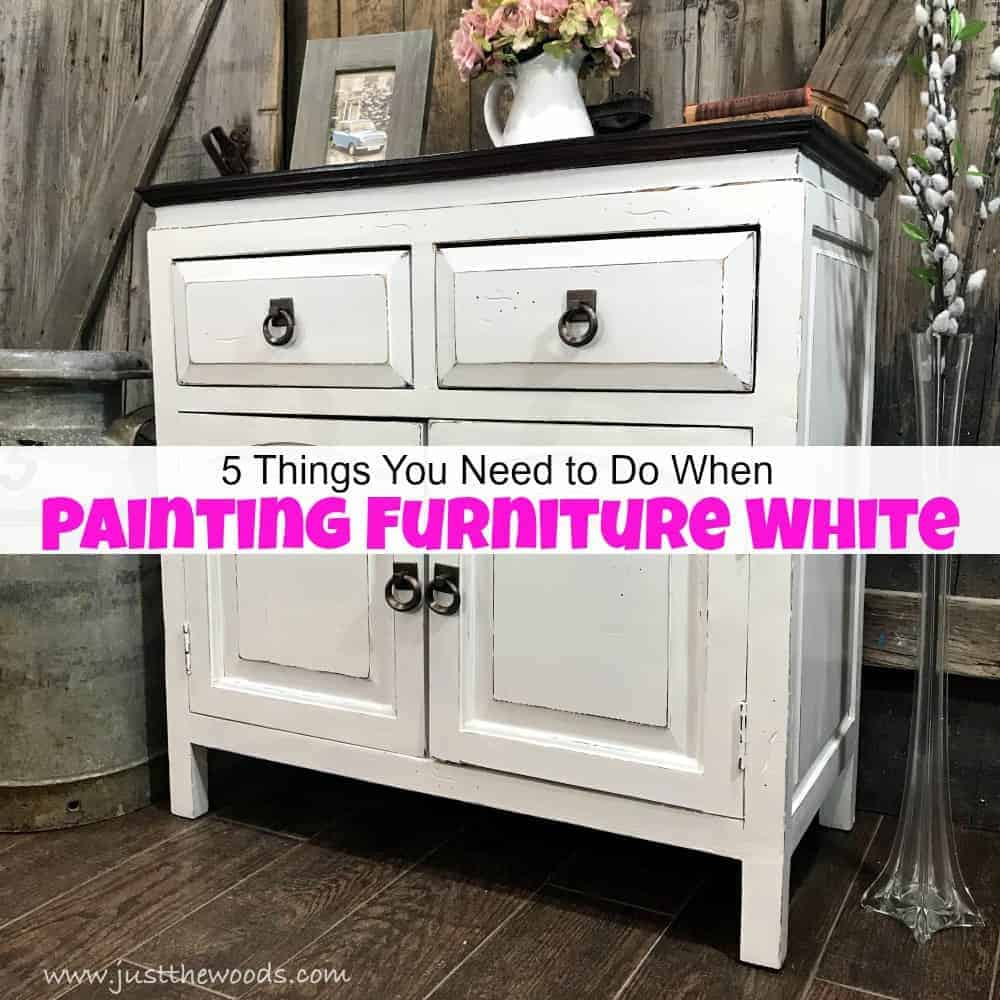 Bad Shabby Chic 5 Things You Need To Do When Painting Furniture White