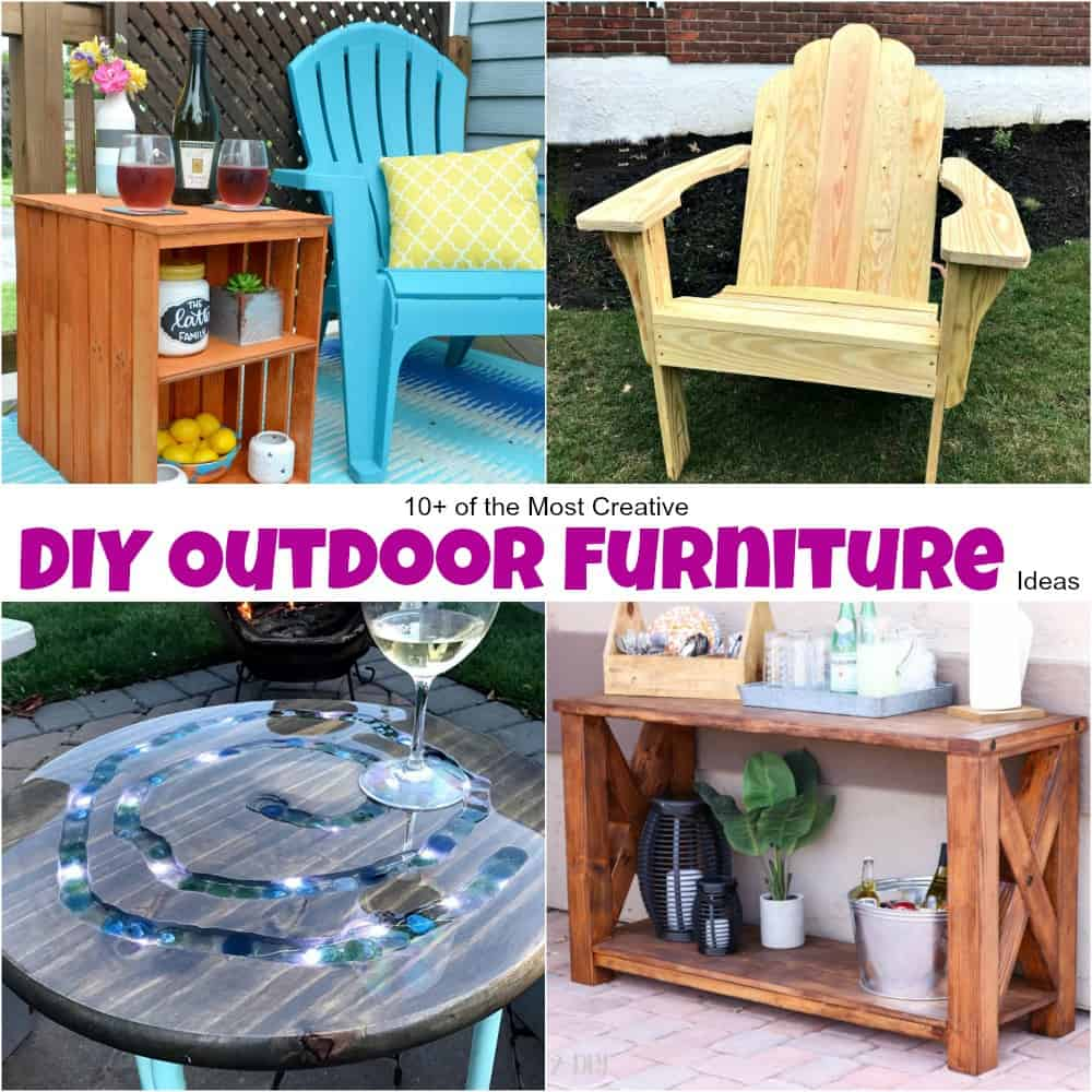 Patio Table 10 Of The Most Creative Diy Outdoor Furniture Ideas